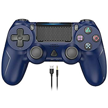 Game Controller for PS4 YCCSKY 1000mAh Wireless Controller for PS4 / PS4 Slim / PS4 Pro Console with Share Button/Ergonomic Design/Vibration Function  Blue