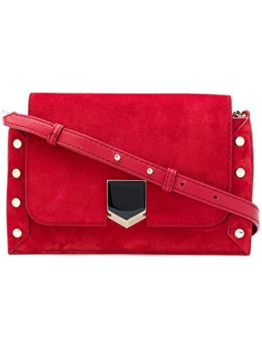 Jimmy Choo Luxury Fashion Donna LOCKETTSHOULDERBAGSUERED-MCJ Rosso Borsa A Spalla   Autunno Inverno 18