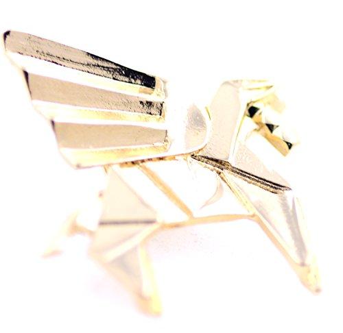 Lizzyoftheflowers – Super niedliches Papier, faltbar, fliegendes Pferd Origami-Brosche Goldfarbener Pegasus Pin