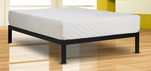 Wolf Composure Wrapped Coil and Latex Hybrid Mattress and Platform Set, Full