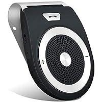 Aigoss Manos Libres Bluetooth 4.1 Coche Kit, reducción de eco y ruido de fondo para la visera Soporta GPS,universal, Música, Altavoz Inalámbrico para Teléfonos Móviles, conectar dos teléfonos