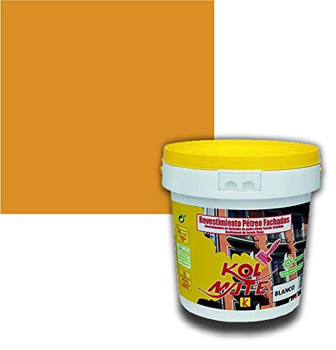 Revestimiento Pétreo de Fachadas KOLMATE. Pintura especial para fachadas (20 kg, amarillo albero)