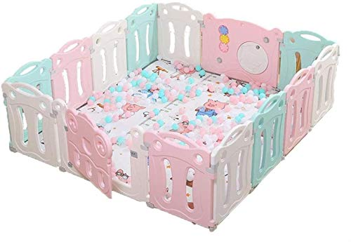 GCX Solid Baby Playpen Kids Activity Center Safety Play Yard Home Indoor - Outdoor Play Pen Practical (Size : 12 panels - 180x150cm)