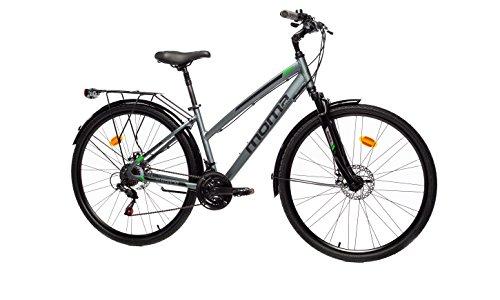 Moma Bikes Bicicleta Trekking / Paseo TREKKING PRO W 28', Aluminio, SHIMANO 21V, Susp. Delant.