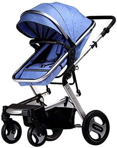 Cochecito de bebé, buggy, cochecito de bebé  Cochecito de bebé ligero con mango de transporte, cochecito de cochecito de cochecito plegable y portátil. (Color : Blue)