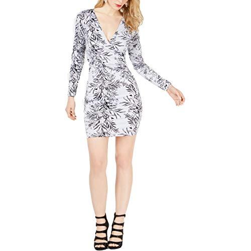 Guess Damen Long Sleeve Latrice Dress Kleid, Bouquet Frost, X-Klein