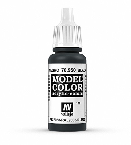 Vallejo Model Color Pintura Acrílica, Negro (Black), 17 ml