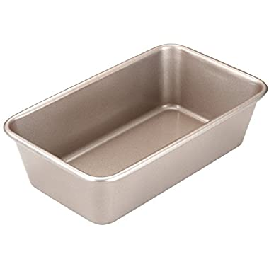 CHEFMADE 9 Inch Rectangular Bread Pan, Non-stick Heavy-duty Carbon Steel Loaf Bakeware FDA Approved, Oven Roasting Baking Cake Pan 9.6  x 5.7  (Champagne Gold)