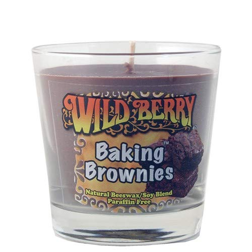Baking Brownies (Dark Chocolate) Scented Candle 7 oz, Glass Jar with Lid, Natural Soy/Beeswax