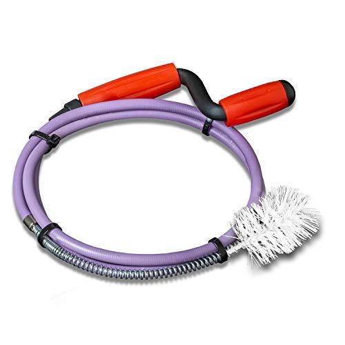 Preisvergleich Produktbild Nirox Rohrreinigungsspirale 8mm x 1, 4m - Rohrspirale mit fester Kunststoff-Bürste - Rohrreinigungswelle mit Gummimantel - Werkzeug für Abfluss & Siphon - Rostfrei