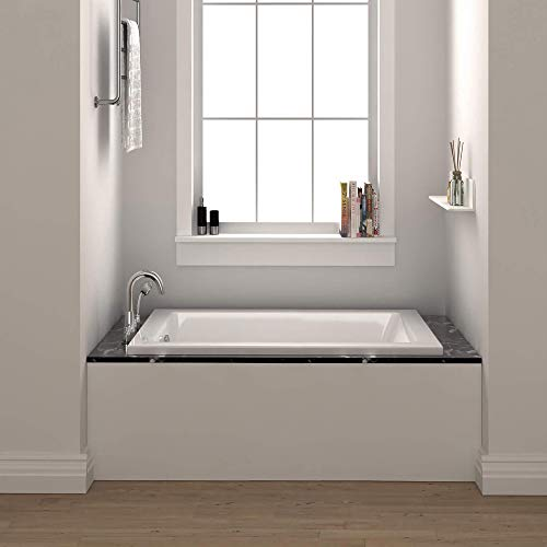 Fine Fixtures Drop In White Soaking Bathtub, Fiberglass Acrylic Material, Exclusive Small sized 54'L...