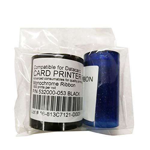 532000-053 Schwarzes HQ-Monochrom-Farbband für Datacard-Kartendrucker mit 1500 Bildern für SP35 SP55 SP75 Plus