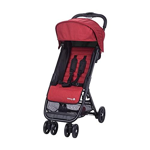 Safety 1st Buggy Teeny, Ultrakompakt Zusammenklappbarer Kinderwagen inkl. Passender Tragetasche, Ideal für die Reise oder die Stadt, Nutzbar ab ca. 6 Monate bis ca. 3 Jahre, Red Chic (rot)