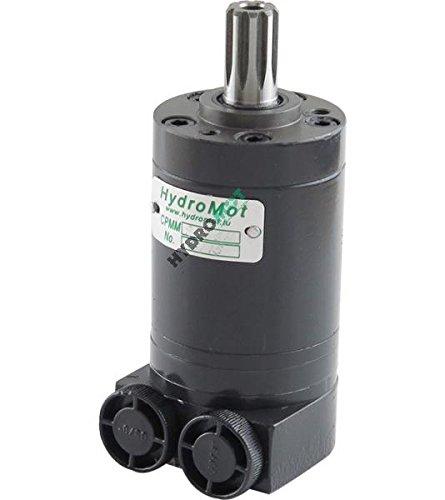 Hydraulikmotor CPMMS_SH, Schluckvolumen wählbar von 8,2 cm3/U – 50 cm3/U, Seitliche Anschlüsse: G 3/8'', Welle: Ø 16,5 mm verzahnt B17 x 14, Modell Längsschieberventil mit Gerotor, mit oder ohne Flansch erhältlich Größe 50 ccm