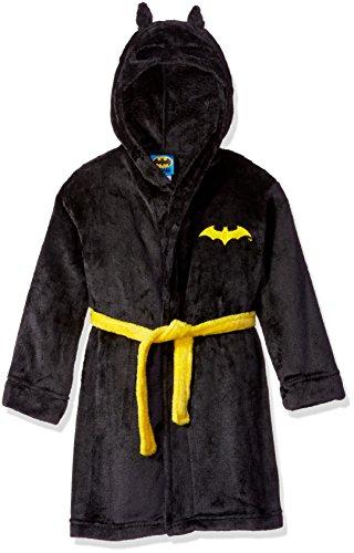 DC Comics Boys' Big Toddler Batman Hooded Robe, Black, X-Small (4/5)