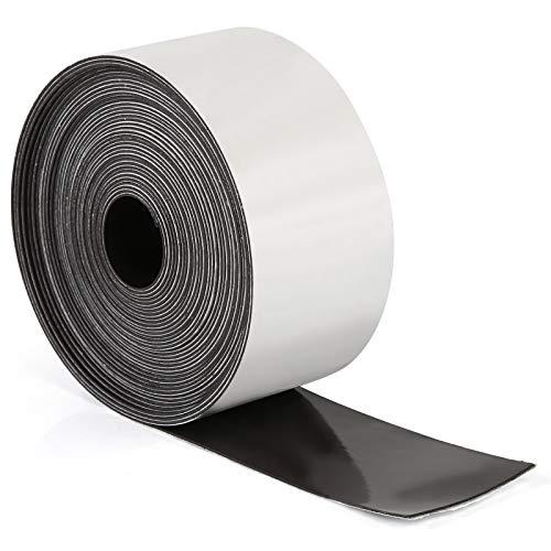 Kesote Cinta Magnética Autoadhesiva Cinta Magnética Negra para Pegar Nota, Carteles, Fotos, Papeles, 5M x 3.5CM, Negro