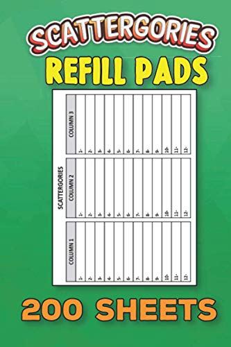 Scattergories Refill Pads: 200 Cards For Scorekeeping Scatte