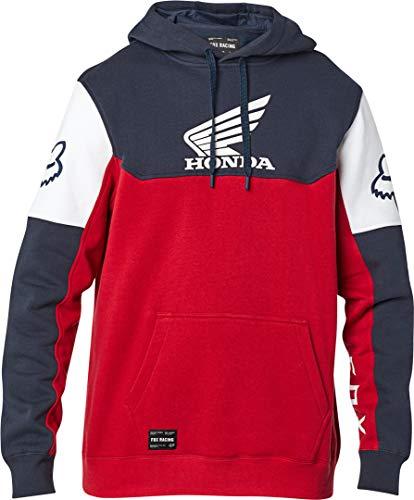 Fox Racing Herren Men's Honda Fleece Pullover Hoody,Large,Navy/Red Kapuzenpulli, Marineblau/rot, Groß