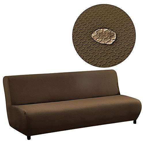 WUYANSE Fundas de sofá Jacquard de 2 Piezas de poliéster y Licra (Silla, Chocolate) Funda de sofá elástica para sofá de Dos plazas, Lavable a máquina, Elegantes Fundas Protectoras de Muebles con una