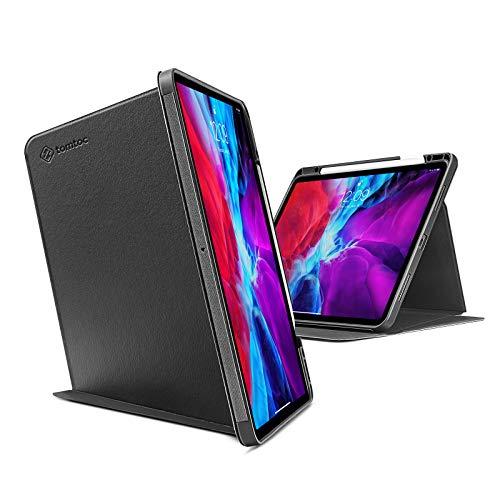 tomtoc Hülle für 12,9-Zoll iPad Pro (3./4. Gen) 2018-2020, Trifold Stand Schutzhülle Smart Tri-Hülle mit Magnetischem Ständer für Vertikal/Horizontal Position