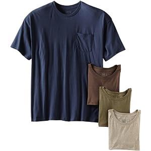 Fruit of the Loom Men's Pocket Crew Neck T-Shirt (Pack Of 4)