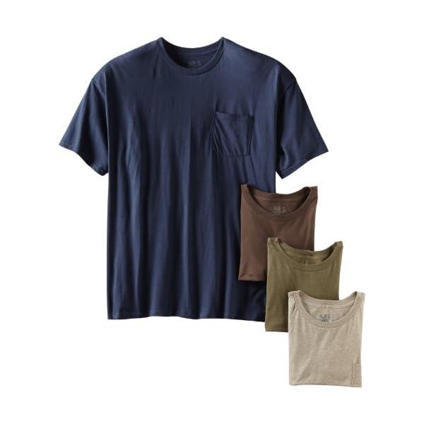 Fruit of the Loom Men's Pocket Crew Neck T-Shirt – 3X-Large – Assorted...