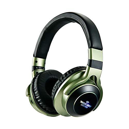 LED Light Wireless Bluetooth Headphones 3D Stereo Earphone with Mic...