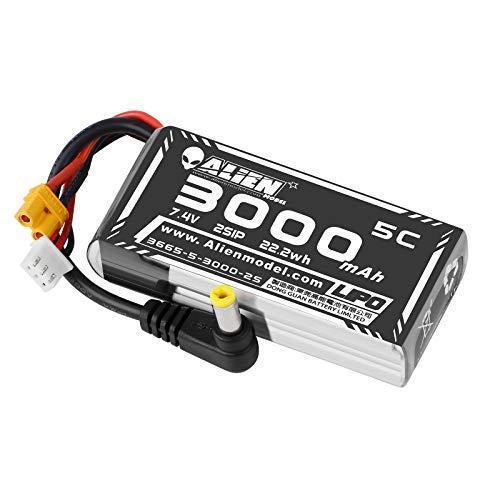 3000mAh 2S LiPo Battery Fatshark FPV Goggles Battery 7.4V with XT30/DC5.5 Plug for D JI HD Digital Goggles Skyzone 03O Goggles Hobby Wireless FPV RC Receiver