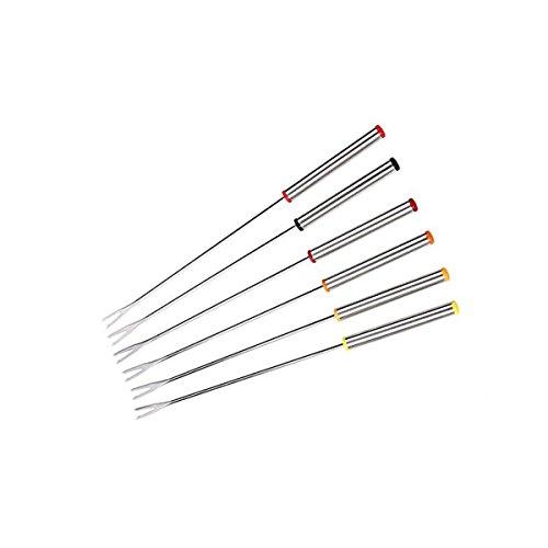 con Mango de Acero Inoxidable Tenedores para Fondue de Acero Inoxidable 18 Unidades 24 cm Faneli