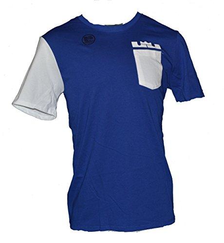 Nike Men's Lebron James Pocket Dri-Fit Tee Shirt Large Blue White