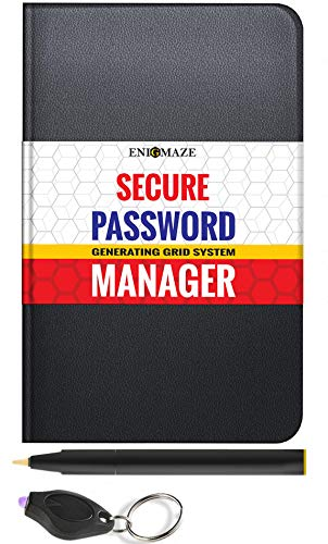 Secure Travel Password Manager Book with Alphabetical Tabs