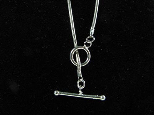 Direct store 3mm Snake Chain Necklace outlet with Toggle 925 Clasp Silver Sterling