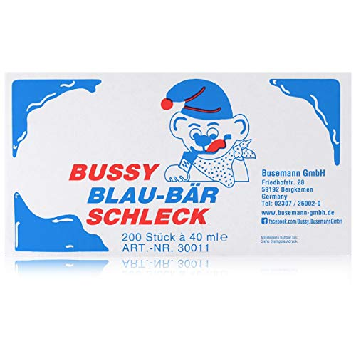 Bussy Schleck Drinks Blau Bär Waldbeer blau 200er Pack (200 x 40ml)