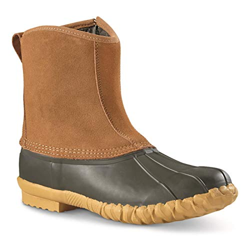 Guide Gear Side-Zip Insulated Duck Boots, 400-gram, Tan, 11D (Medium)