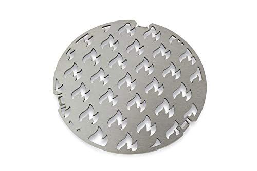 Edelstahl Grill-Einsatz Ø 20 passend für die Grillrost.com Feuerplatten | Grillring | Plancha