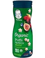 Gerber Organic Fig Berry Puffs, 42 gm