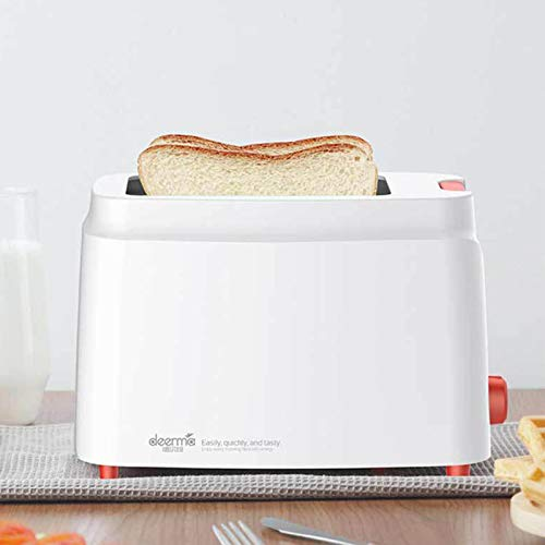 HDEC Countertop 2 Slice Toaster Mini White Toaster 3 in 1 Breakfast Station 9-Shade Settings Stainless Steel Toaster