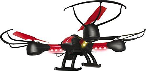 Tekk Drone 1315S Hawkeye Drone Semiprofessionale con Camera HD e FPV, Nero/Rosso