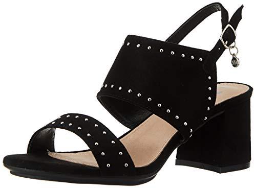 XTI 35194.0, Zapatos de tacón con Punta Abierta Mujer, Negro, 38 EU