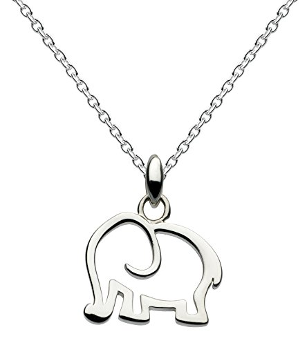 Dew Elephant Necklace of Length 18 inch on 45.7 cm Sterling Silver Chain