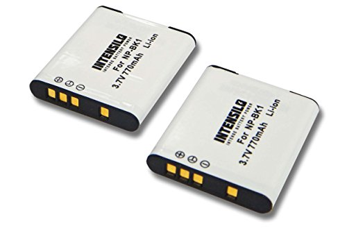 INTENSILO 2X Li-Ion batería 770mAh (3.7V) para cámara de Video, videocámara Sony...