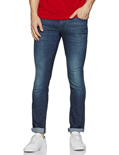 Wrangler Men's Slim Fit Jeans (W38515W22SMU_Jsw-Indigo_32W x 33L)