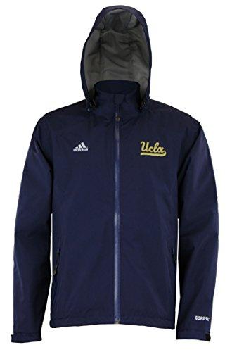adidas UCLA Bruins Hombres de Gore-Tex Chaqueta de Cremallera Completa, Azul Marino, Atlético, XL, Marino