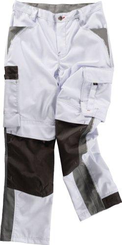 Beb Bund-Hose Arbeits-Hose INFLAME - weiß/grau - Größe: 98