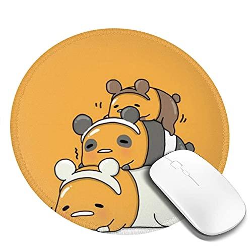 Alfombrilla Gruesa de Goma Antideslizante para ratón 400x750mm Alfombrilla Raton Ordenador Base de Goma Antideslizante para Jugadores, PC y Portátiles,Somos Osos Desnudos
