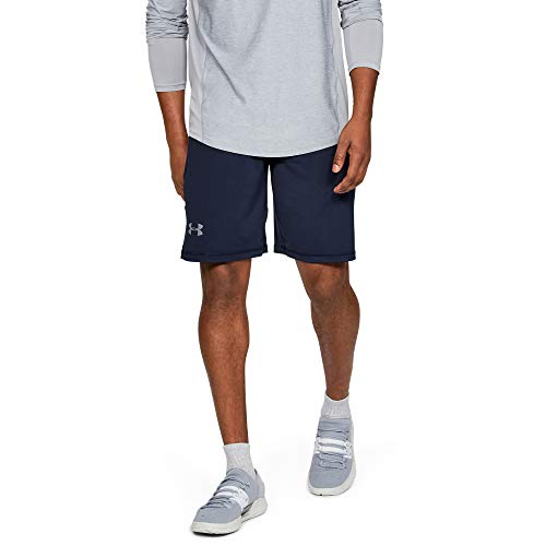Under Armour Men's Raid 10-inch Workout Gym Shorts , Midnight Navy (410)/Steel , X-Large