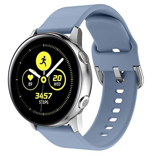 NotoCity Correa para Vivoactive 3, 20mm Repuesto de Correa Reloj de Silicona para Garmin Forerunner 245/645/Amazfip Bip/Huawei Watch 2/Samsung Galaxy Watch 42mm/Gear Sport/Active