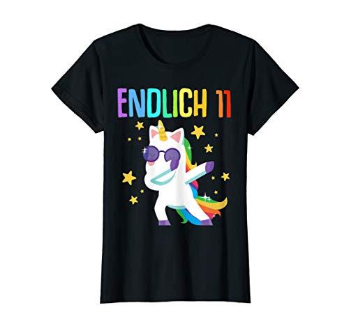 11. Geburtstag Mädchen 2009 11 Jahre Einhorn Party Geschenk T-Shirt