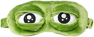 注意旅行3Dカエルアイマスク睡眠ソフトパッドシェードカバー残りリラックス目隠し楽しい