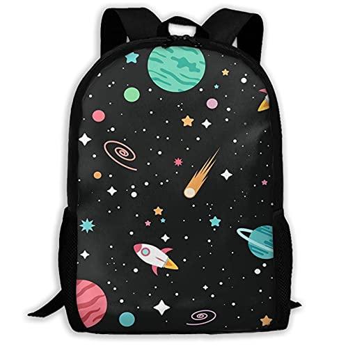 Hdadwy Universe School Rucksack Bookbags 3D Printed Fashion Travel Daypack